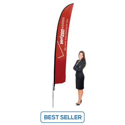 13ft Flag Banner Stand - Single or Double Sided Print Option