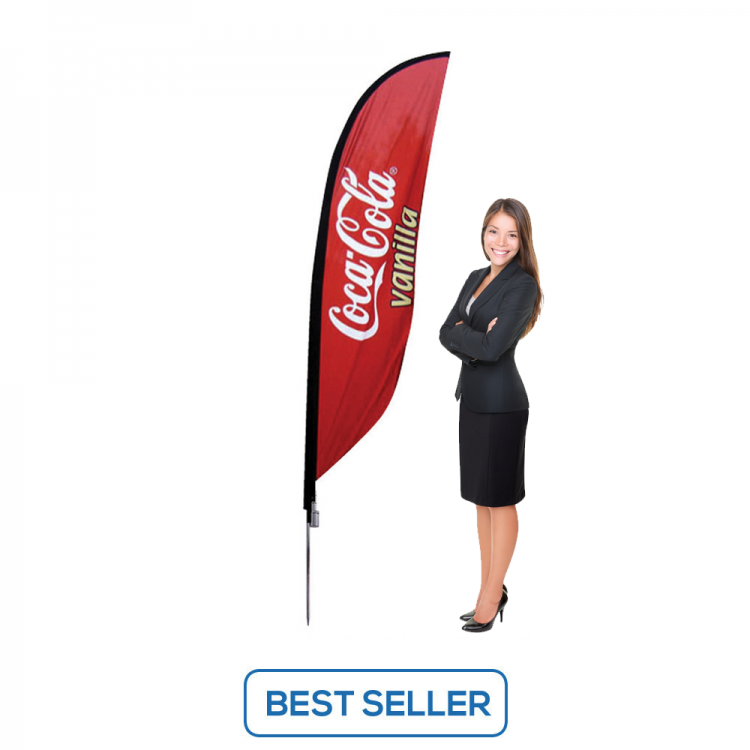 7ft Flag Banner Stand - Single or Double Sided Print Option