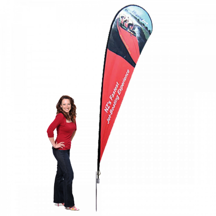 Extra Large Teardrop Flag - Single or Double Sided Option