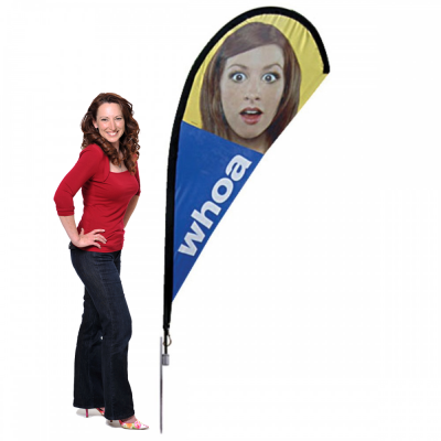 Small Teardrop Flag - Single or Double Sided Option