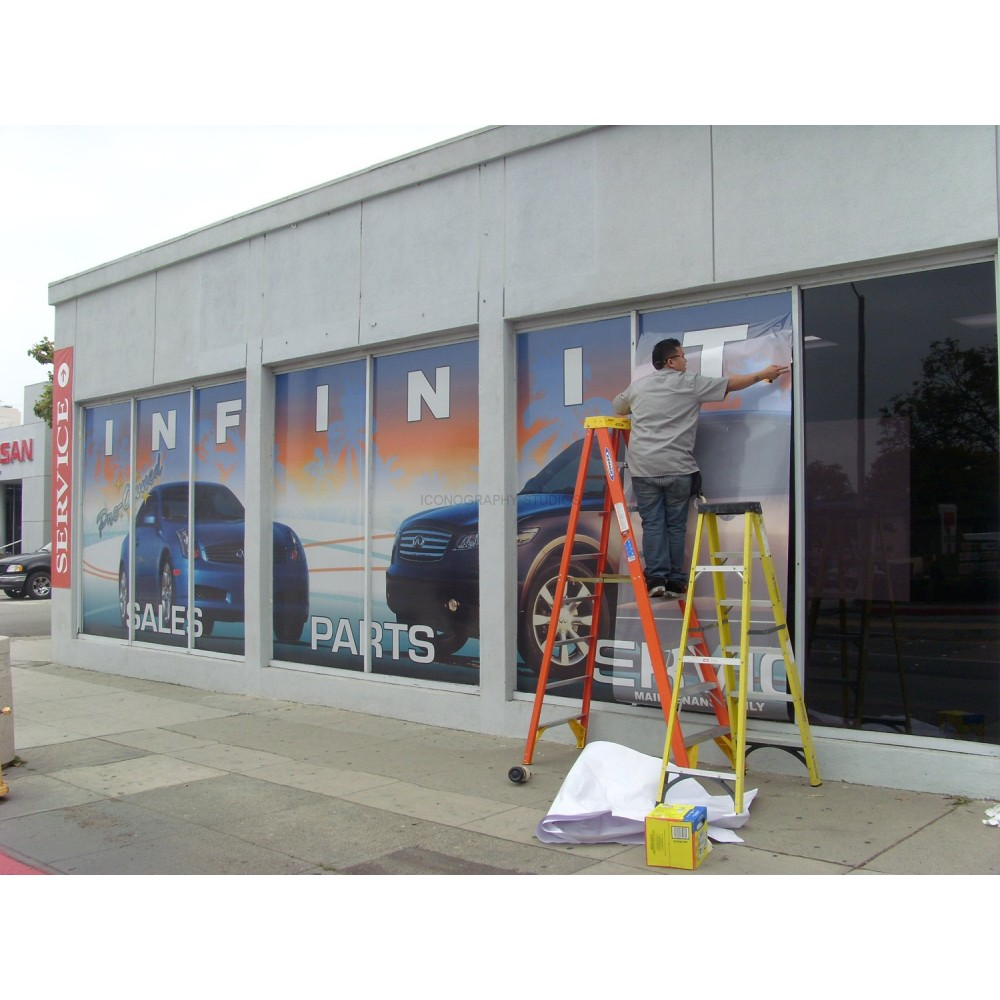 Custom window decals san francisco window graphic print for Custom vinyl mural prints